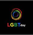 circle rainbow paint colorful lgbt lesbian gay vector image