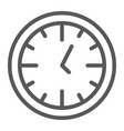clock line icon time and dial watch sign vector image vector image