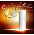Collagen Treatment Template vector image vector image