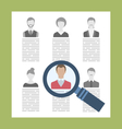 concept recruitment specialists vector image vector image