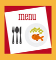delicious food vector image