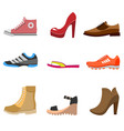 different fashion shoe boots models for shop site vector image vector image