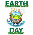 Earth day theme vector image