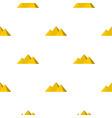 egyptian giza pyramids pattern seamless vector image vector image