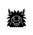 fairy monster black icon sign on isolated vector image vector image