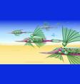 fantastic flying mechanism vector image vector image