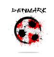 flag of denmark as an abstract soccer ball vector image vector image