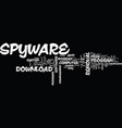 free spyware removal downloads text background vector image vector image