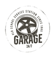 Garage old school service station label Vintage vector image vector image