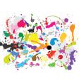 grunge paint splats vector image vector image