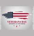 happy veterans day inscription grunge american vector image vector image
