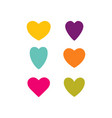 hearts temp color set vector image