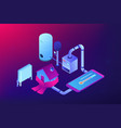 heating system concept isometric vector image