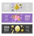 horizontal banner set with gold glitter elements vector image vector image