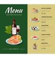 italian cuisine restaurant menu design vector image