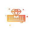 keyboard icon design vector image