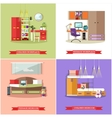 Kids bedroom interior in flat style vector image vector image