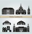 kielce landmarks vector image vector image