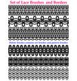 laces brushes and borders set isolated on white vector image