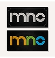 letter M N O logo alphabet chalk icon set vector image
