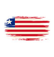 liberian flag brush grunge background vector image vector image