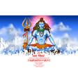 Lord shiva indian god of hindu for shivratri with