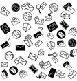 Mail icons background vector image