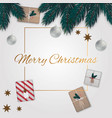 merry christmas background with gifts vector image