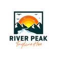 mountain river inspiration logo design vector image