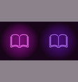 neon icon of purple and violet book vector image
