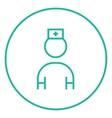 Nurse line icon vector image vector image