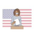 politics election usa voting coronavirus vector image