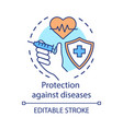 protection against diseases concept icon healthy vector image vector image