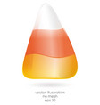 realistic halloween candy corn isolated on white vector image