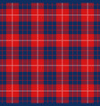 red and blue tartan plaid seamless pattern vector image vector image