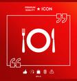 restaurant symbol icon vector image vector image