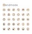 Round Handmade Icons vector image
