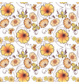 seamless background fabulous flowers vector image vector image