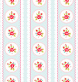 Seamless pattern with pink roses and lace vector image vector image