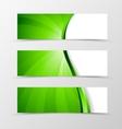 set banner wave design vector image vector image