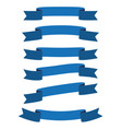 set blue ribbon banner icon vector image vector image
