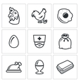 Set of Chicken Icons Hen Rooster vector image