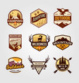 set outdoor adventure vintage logo emblem vector image vector image