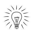 sketchy bulb vector image vector image