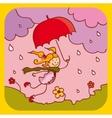 spring rain vector image vector image