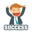 Success people cartoon design vector image vector image