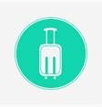 suitcase icon sign symbol vector image vector image