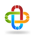 teamwork people clip abstract design vector image vector image