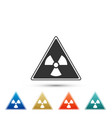 triangle sign with radiation symbol icon isolated vector image vector image