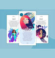 web page design templates for beauty spa vector image vector image